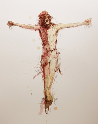 was christ crucified naked